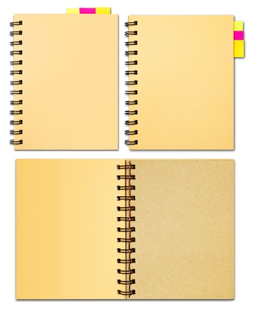 Collection of notebook office supply stationary Stock Photo