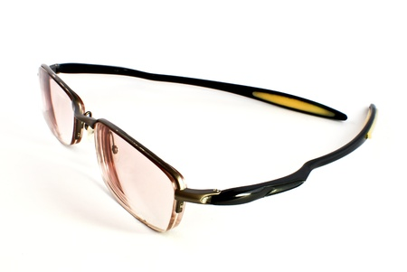 modern shape sport eye glasses isolated on white background Stock Photo - 8485010