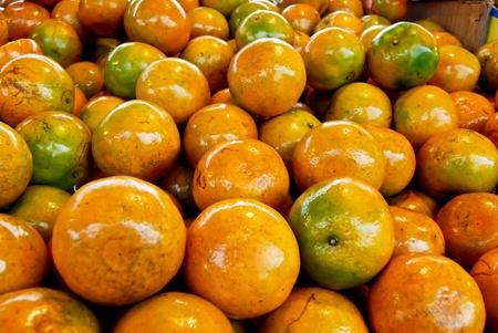 fresh orange in market closeup background , Asia , Thailand photo