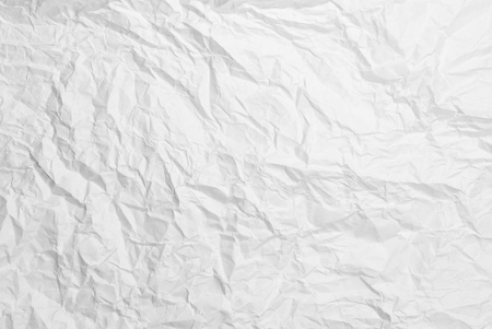 crumpled paper white texture background photo