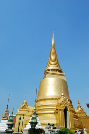 Golden Buddha Temple in Grand Palace , Thailand , Also know as Wat Phra Kaew , The most famous temple in the world. photo