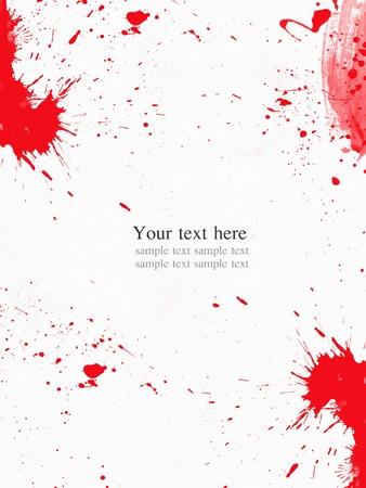 spatters: Spruzzata di colore acqua rossa su sfondo bianco