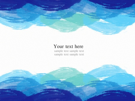 watercolor blue: abstract water color frame , painting blue tone like the sea and ocean background Stock Photo