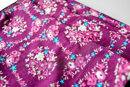 Batik fabric scarf with asian style oriental pattern background texture Stock Photo - 9154745