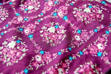 Batik fabric scarf with asian style oriental pattern background texture photo
