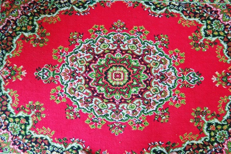 Batik fabric carpet with asian style oriental pattern background texture Stock Photo - 9154749