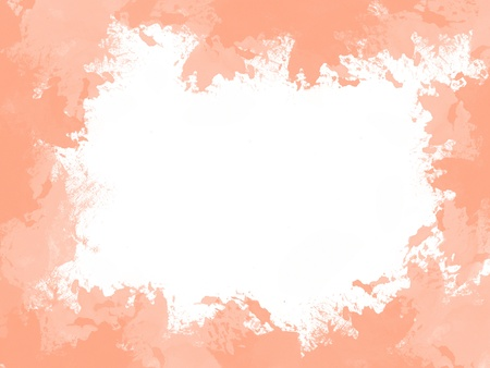 abstract water color peach orange frame background
