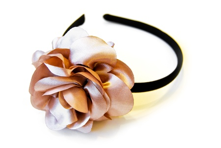 handmade headdress flower style on white background