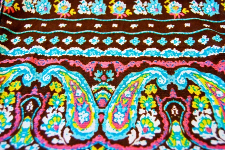 vintage fabric with paisley pattern background photo
