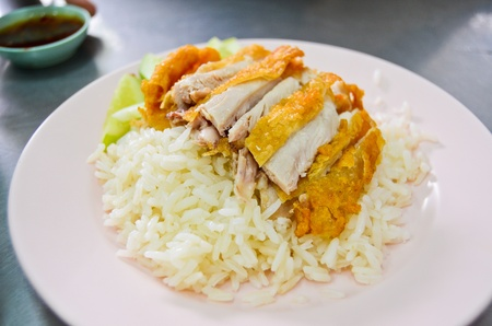 Fried chicken with rice  , Asian style food Stock Photo - 9727593