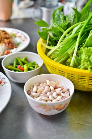 Variety of vegetables for Vietnamese food set photo