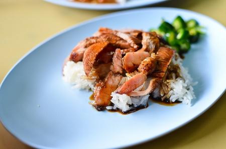 Teriyaki pork rice , Asian style food Stock Photo - 9727587