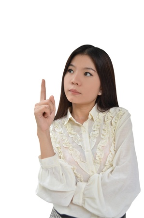 Portrait of Asian Business woman on white background Stock Photo - 10444456