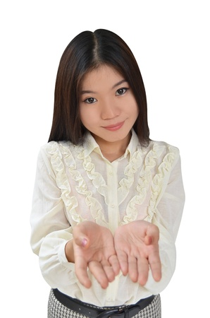 Portrait of Asian Business woman on white background Stock Photo - 10444472