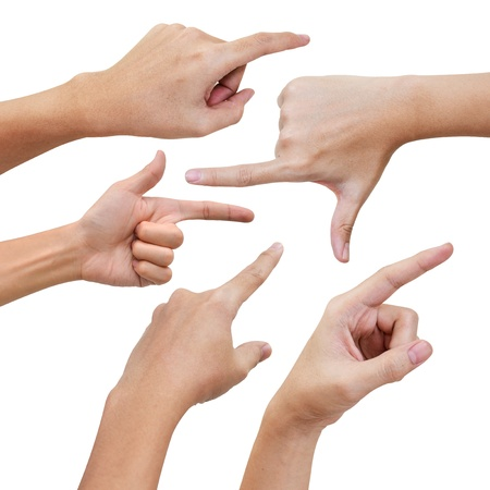 dedo �ndice: Mano algo poiting en varias poses