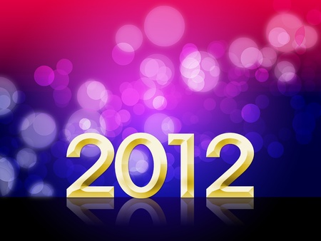 2012 Happy new year background with beautiful bokeh photo