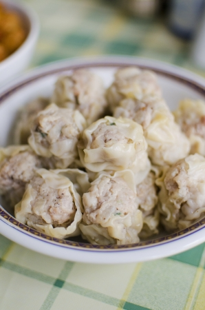 Chinese steamed dumpling , Dim sum , Traditional Chinese Food photo
