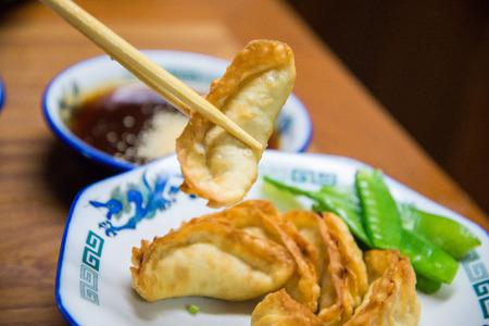 gyoza: Traditional Japanese gyoza, Fried dumpling wonton