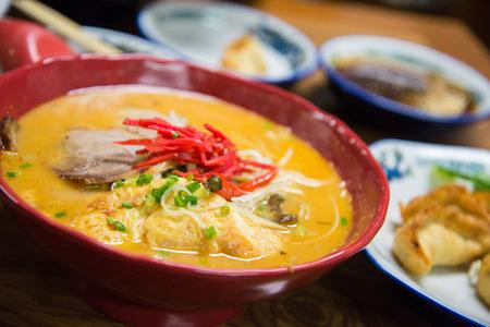 hot soup: Traditional Japanese ramen ,Pork noodles hot soup