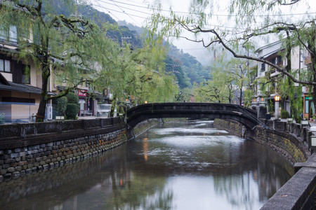 hot spring: Kinosaki onsen town, famous and beautiful hot spring town in rural area of Japan Stock Photo