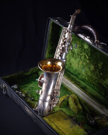 Vintage 1929 Silver Conn Refurbished Soprano Sax with Sterling Silver-Wash Bell back view