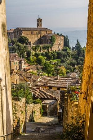 montalcino: Beautiful Narrow Streets of Montalcino City with Fortress View - Montalcino, Tuscany, Italy