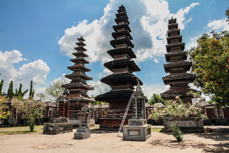 Pura Meru Hindu Temple with Cloudy Blue Sky - Mataram, Lombok