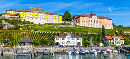 Amazing Summer View Of The Wurttemberg States Winery and The High School in Meersburg-Meersburg,Lake Constance,Germany,Europe