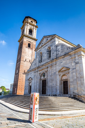 shroud: Beautiful View of Cathedral of Saint John the Baptist During Summer Day-Turin,Italy,Europe