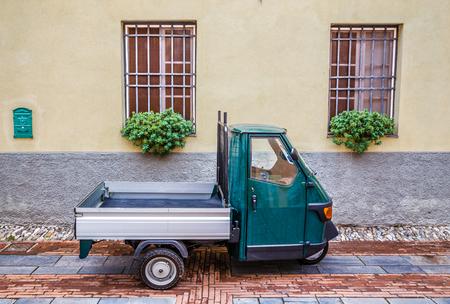 Old Piaggio Ape Car- Albenga, Savona, Liguria, Italy