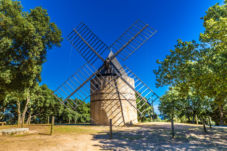 Restored Windmill between Ramatuelle and Gassin - France,Europe