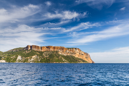 sea cliff: View Of Cap Canaille-The Highest Sea Cliff In France, Cassis Stock Photo