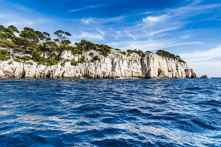 cote d'azur: Beautiful View Of Romantic Calanque - Sheltered Inlet Near Cassis, France, Europe