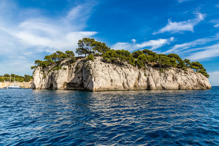 sheltered: Beautiful View Of Romantic Calanque - Sheltered Inlet Near Cassis, France, Europe