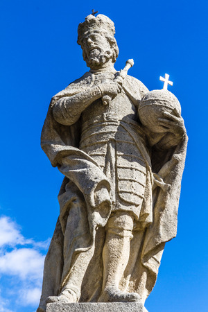 sceptre: Statue of Charles the Great Charles I On The Terrace Before Jesuit College-Kutna Hora,Czech Republic