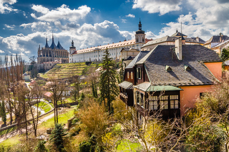 View Of Saint Barbara's Church Cathedral of St Barbara And Jesuit College-Kutna Hora,Czech Republic,Europe