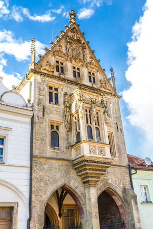 richly: Stone House With  A Richly Decorated Facade-Kutna Hora,Czech Republic Editorial