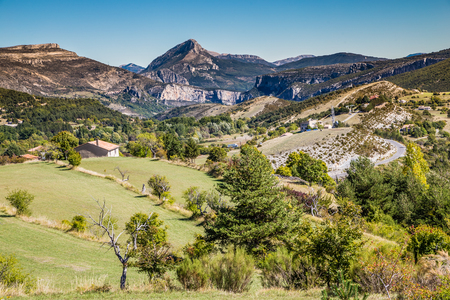 sublime: View From Route de la Corniche Sublime Near Gorges Du Verdon Canyon-Alpes de Haute Provence,France