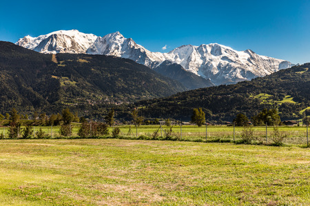 aiguille: View of Mont Blanc, Mont Maudit, Domes De Miage And Aiguille de Bionnassay From Passy-France