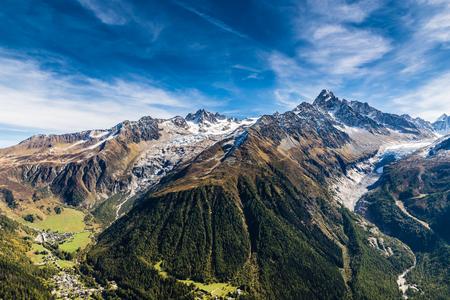 aiguille: View Of Aiguille Verte, Aiguille du Chardonnet And Glaciers-France
