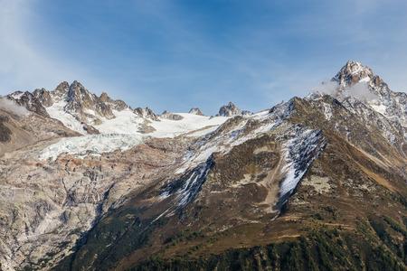 aiguille: View Of Mountain Range With Aiguille du Tour, Aiguille du Chardonnet And Glacier du Tour-France