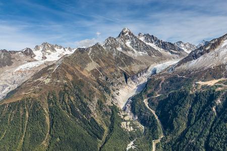 aiguille: View Of Aiguille du Tour, Aiguille du Chardonnet, Aiguille d Argentiere, Aiguille de l A Neuve, Glacier d Argentiere And Glacier du Tour-France