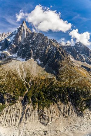 massif: View Of Aiguille Du Dru And Mer De Glace-Mont Blanc Massif,Chamonix,France