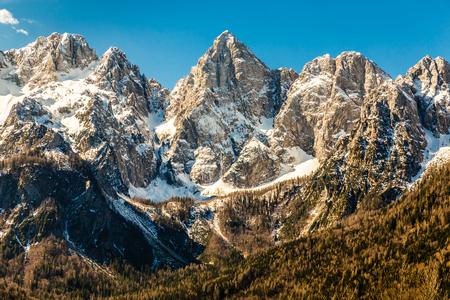 close range: View Of North Face Of Spik Mountain From Martuljek-Slovenia,Europe