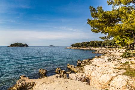rocky coastline: View Of Beautiful Rocky Coastline Near Vrsar Village-Croatia,Europe