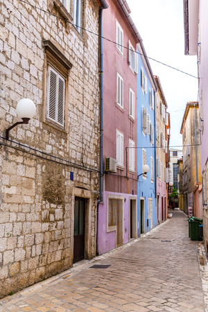 violet residential: Narrow Street With Colorful Buildings - Zadar, Dalmatia, Croatia