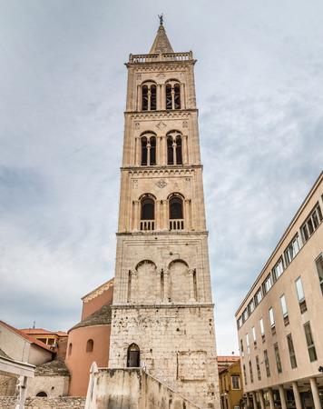 dalmatia: Tower Of Church of Saint Donat - Zadar, Dalmatia, Croatia Stock Photo