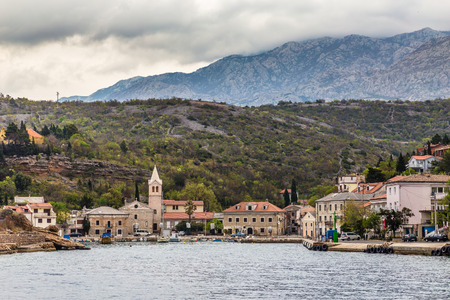 inlet bay: View Of The Port And Church In Jablanac Village - Jablanac, Croatia
