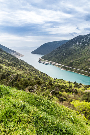 inlet: View Of The Luka Plomin Inlet Near Power Station - Plomin, Istria, Croatia, Europe