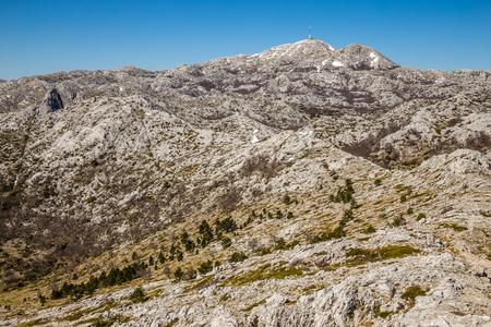 jure: Landscape In Biokovo Mountain Nature Park-Biokovo, Dalmatia, Croatia, Europe Stock Photo